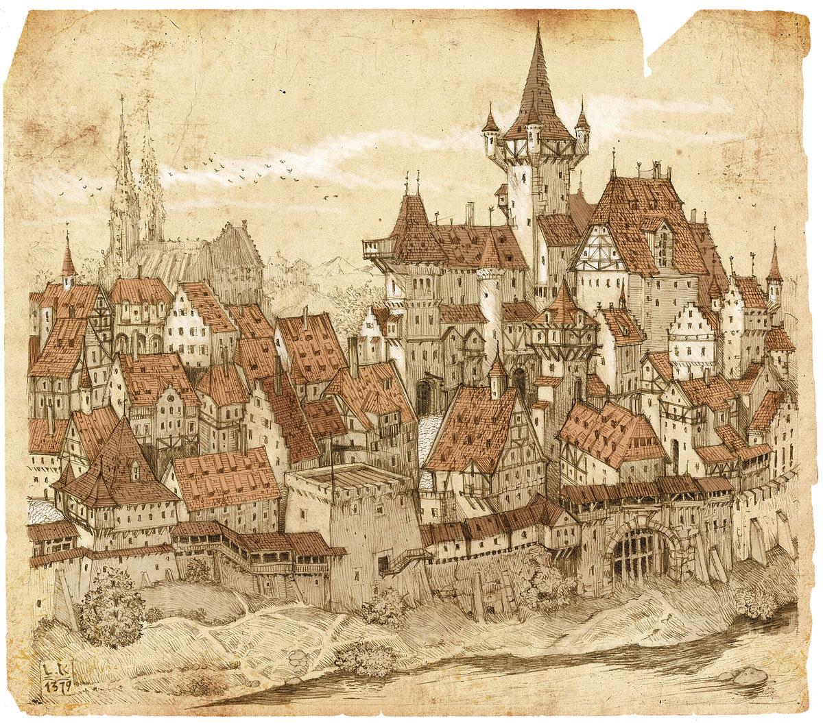 Back Cover Illustration for Medieval stories, Krone Verlag 2009